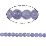 Glass Beads kërcitje, Xham, Round, asnjë, vjollcë, 8mm, : 2mm, :31Inç, 105PC/Fije floku,  31Inç,