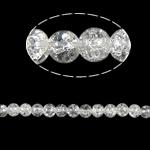 Glass Beads kërcitje, Xham, Round, asnjë, 8mm, : 2mm, :31Inç, 105PC/Fije floku,  31Inç,
