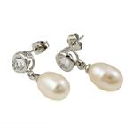 Një palë vathë Pearl ujërave të ëmbla, Pearl kulturuar ujërave të ëmbla, Shape Tjera, asnjë, e bardhë, 8-10mm, 20-22mm, 10Palë/Qese,  Qese