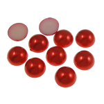 Cabochons plastike, Kube, i kuq, 12x5mm, 1000PC/Qese,  Qese