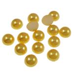 Cabochons plastike, Kube, i verdhë, 8x4mm, 2000PC/Qese,  Qese