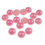Cabochons plastike, Kube, rozë, 10x4mm, 2000PC/Qese,  Qese