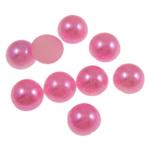 Cabochons plastike, Kube, Pink fuchsia, 6x3mm, 5000PC/Qese,  Qese