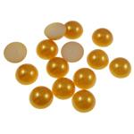 Cabochons plastike, Kube, i verdhë, 10x4mm, 2000PC/Qese,  Qese