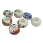 Beads bizhuteri Porcelani, Rondelle, ngjyra të përziera, : 5mm, 100PC/Qese,  Qese