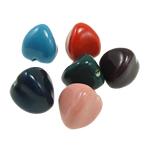 Beads xham porcelani, Romb, xham, ngjyra të përziera, 21x24mm, : 3mm, 30PC/Qese,  Qese