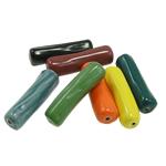Beads xham porcelani, Tub, xham, ngjyra të përziera, 41x11mm, : 2mm, 40PC/Qese,  Qese