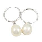Një palë vathë Pearl ujërave të ëmbla, Pearl kulturuar ujërave të ëmbla, Shape Tjera, asnjë, e bardhë, 9-10mm, 10Çiftet/Qese,  Qese