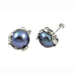Një palë vathë Pearl ujërave të ëmbla, Pearl kulturuar ujërave të ëmbla, Shape Tjera, asnjë, blu të errët, 12-13mm, 15x19mm, 10Çiftet/Qese,  Qese