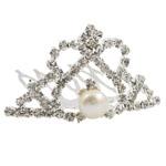 Combs dekorative Flokët, Tunxh, me diamant i rremë, , nikel çojë \x26amp; kadmium falas, 44x26mm, 7-8mm,  PC