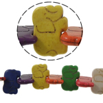 Bruz Beads, Bruz sintetike, Kafshë, ngjyra të përziera, 31.50x21.50x5.50mm, : 1mm, :15.5Inç, 23PC/Fije floku,  15.5Inç,