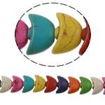 Bruz Beads, Bruz sintetike, Shufër, ngjyra të përziera, 14x9x6mm, : 1mm, :15Inç, 42PC/Fije floku,  15Inç,