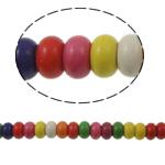 Türkis Perlen, Synthetische Türkis, Rondell, gemischte Farben, 5x10mm, Bohrung:ca. 1mm, ca. 65PCs/Strang, verkauft per ca. 15 ZollInch Strang