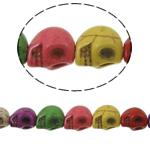 Bruz Beads, Bruz sintetike, Kafkë, ngjyra të përziera, 10x8mm, : 1mm, : 16Inç, 42PC/Fije floku,  16Inç,