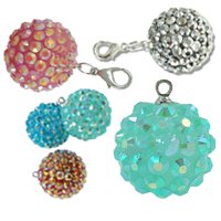 Resin Rhinestone Pendants