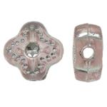 Theks Silver Beads akrilik, theks argjendi, rozë, 8x8x4mm, : 1.2-1.5mm,  Qese