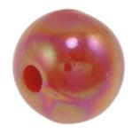 Beads praruar akrilik, Round, colorful kromuar, qetë, i kuq, 8mm, : 1.5mm, 2000PC/Qese,  Qese