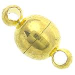 Kapje tunxh magnetik, Round, ngjyrë ari praruar, asnjë, , nikel çojë \x26amp; kadmium falas, 6mm, : 1.8mm, 200PC/Qese,  Qese