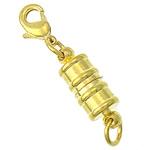 Kapje tunxh magnetik, ngjyrë ari praruar, asnjë, , nikel çojë \x26amp; kadmium falas, 5x9.8mm, 16.2x6mm, : 3.5mm, 100PC/Qese,  Qese