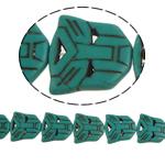 Bruz Beads, Bruz sintetike, 25x25x6mm, : 1mm, : 15.5Inç, 16PC/Fije floku,  15.5Inç,