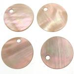 Pendants Shell, Predhë, Monedhë, 12.5x12.5x1-1.5mm, : 1.5mm, 200PC/Qese,  Qese