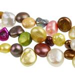 Barok Beads kulturuar Pearl ujërave të ëmbla, Pearl kulturuar ujërave të ëmbla, i lyer, 7-10mm, : 0.8mm, :15Inç,  15Inç,