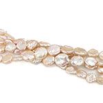 Monedhë Beads ujërave të ëmbla kulturuar Pearl, Pearl kulturuar ujërave të ëmbla, AAA, 12-15mm, : 0.8mm, :15.5Inç,  15.5Inç,