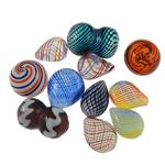 Beads lulëzim Lampwork, Shape përziera, punuar me dorë, ngjyra të përziera, 19-29mm, : 1-2mm, 100PC/Qese,  Qese