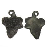 Metalllegierung Anhänger, Metallisches Legieren, Blatt, antike Bronzefarbe plattiert, 14.50x20x3.50mm, Bohrung:ca. 1.5mm, 3kg/Menge, verkauft von Menge