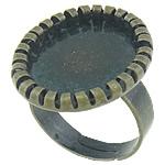 Bezel Brass Ring Base, Tunxh, Ngjyra antike bronz i praruar, asnjë, , nikel çojë \x26amp; kadmium falas, 22x18x2.5mm, 18.2x14.8mm, 5mm, : 18.5mm, : 18.2x14.8mm, :8.5, 200PC/Qese,  Qese