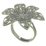 Filigran Brass Ring Base, Tunxh, Ngjyra antike bronz i praruar, asnjë, , nikel çojë \x26amp; kadmium falas, 30x30mm, 5mm, : 16.5mm, :6.5, 100PC/Qese,  Qese