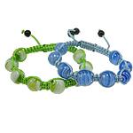 Lampwork Shamballa Bracelets, 12mm, :7.5Inç, 12Fillesat/Qese,  Qese