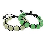 Glass Shamballa Bracelets, Xham, ngjyra të përziera, 12mm, :7.5Inç, 12Fillesat/Qese,  Qese