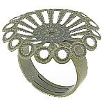Filigran Brass Ring Base, Tunxh, Ngjyra antike bronz i praruar, asnjë, , nikel çojë \x26amp; kadmium falas, 24.7x24.7mm, 4.8mm, : 17.2mm, :7, 100PC/Qese,  Qese
