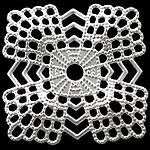Bizhuteri tunxh Gjetja, Ngjyra argjend praruar, asnjë, , nikel çojë \x26amp; kadmium falas, 22x22x0.50mm, : 2.5mm, 500PC/Qese,  Qese
