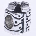 Beads European aliazh zink, Alloy zink, pa karrem, , nikel çojë \x26amp; kadmium falas, 11x8mm, : 4.5mm, 10PC/Qese,  Qese
