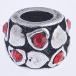 Beads European aliazh zink, Alloy zink, Daulle, pa karrem & me diamant i rremë, , nikel çojë \x26amp; kadmium falas, 10x7mm, : 4mm, 10PC/Qese,  Qese