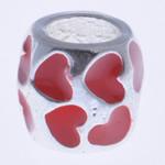 Beads European aliazh zink, Alloy zink, Daulle, asnjë, pa karrem & smalt, i kuq, , nikel çojë \x26amp; kadmium falas, 9x8mm, : 4mm, 10PC/Qese,  Qese
