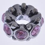 Beads European aliazh zink, Alloy zink, Rondelle, pa karrem & me diamant i rremë, , nikel çojë \x26amp; kadmium falas, 14x7mm, : 4mm, 10PC/Qese,  Qese