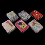 Dhuratë bizhuteri Box, Hekur, Drejtkëndësh, ngjyra të përziera, 95x70x25mm, 10PC/Shumë,  Shumë
