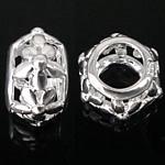 925 Sterling Silver Beads, Daulle, argjend praruar vërtetë, i uritur, 6x10mm, : 5mm, 5PC/Qese,  Qese