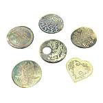 Cabochons Shell, Predhë, approx 38-49x26-49x2.5-3mm, : 1.5mm, 10PC/Qese,  Qese