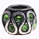 Beads European aliazh zink, Alloy zink, Daulle, pa karrem & me diamant i rremë, , nikel çojë \x26amp; kadmium falas, 11x8mm, : 5mm, 10PC/Qese,  Qese
