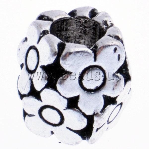 Beads European aliazh zink, Alloy zink, Daulle, pa karrem, , nikel çojë \x26amp; kadmium falas, 10x10mm, : 5mm, 10PC/Qese,  Qese