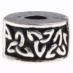 Tunxh European Clip, Rondelle, asnjë, , nikel çojë \x26amp; kadmium falas, 9x6mm, : 3mm, 10PC/Qese,  Qese