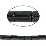 Magnetische Hämatit Perlen, Zylinder, schwarz, Grade A, 5x8mm, Bohrung:ca. 1mm, Länge:15.5 ZollInch, 10SträngeStrang/Menge, verkauft von Menge