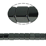 Nicht-magnetische Hämatit Perlen, Non- magnetische Hämatit, Würfel, schwarz, Grade A, 8x8mm, Bohrung:ca. 1mm, Länge:15.5 ZollInch, 10SträngeStrang/Menge, verkauft von Menge