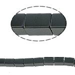 Nicht-magnetische Hämatit Perlen, Non- magnetische Hämatit, Rechteck, schwarz, Grade A, 4x6mm, Bohrung:ca. 1mm, Länge:15.5 ZollInch, 10SträngeStrang/Menge, verkauft von Menge