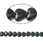 Magnetische Hämatit Perlen, Herz, schwarz, Grade A, 10x3mm, Bohrung:ca. 1mm, Länge:15.5 ZollInch, 10SträngeStrang/Menge, verkauft von Menge