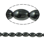 Non-Beads magnetik kuqe e mbylltë, Jo-magnetike kuqe e mbylltë, Oval, e zezë, Një, 9x6mm, : 1.5mm, :15.5Inç, 10Fillesat/Shumë,  Shumë